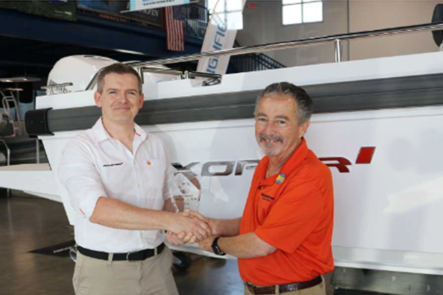 Nautical Ventures Wins International Dealer of the Year Award from Axopar Boats of Finland