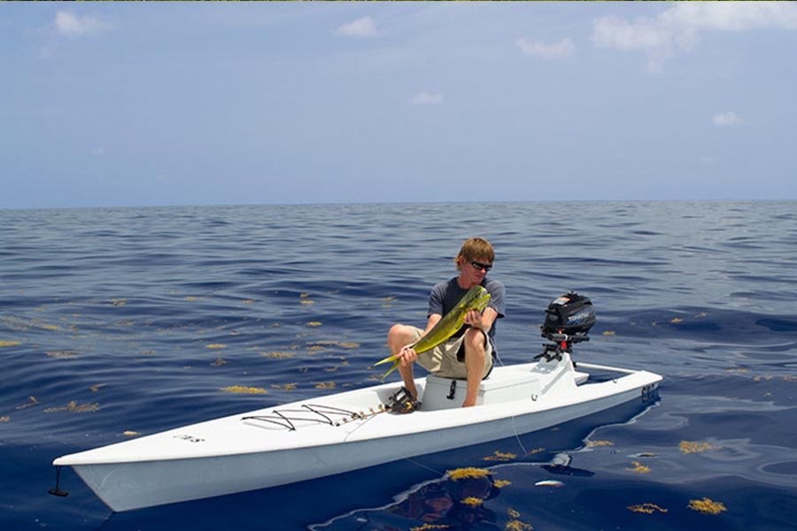 Solo skiff when two 39 s a crowd go solo blog for Solo fishing canoe