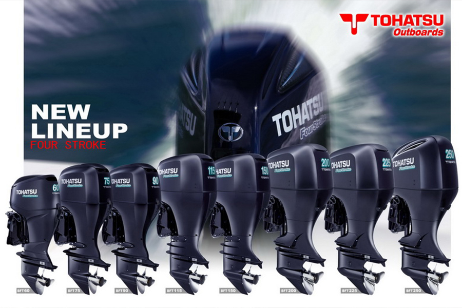 Tohatsu Outboard Engines Line up